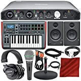 Tascam iXR USB Audio Recording Interface for iPad MacOS And Windows with PreSonus Impulse 25 USB-MIDI Keyboard Controller, Multimedia Monitors, Cables, and Premium Studio Bundle