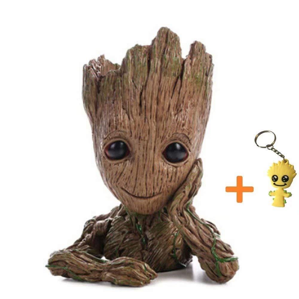 Pawaca - Maceta para plantas del personaje de dibujos de accin Groot, con agujero, de Guardianes de la Galaxia, ideal como regalo para nios.
