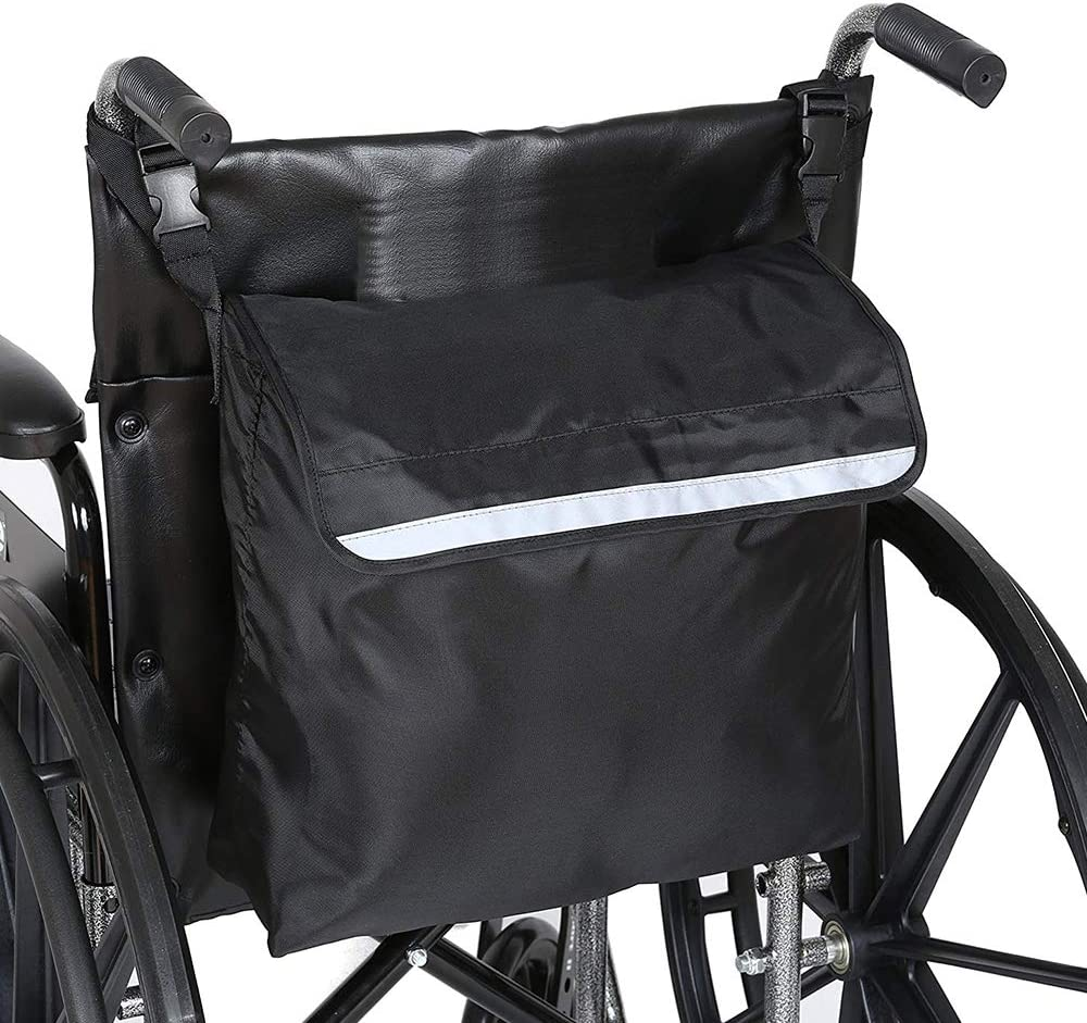 Bolsa de almacenamiento para silla de ruedas, bolsa de accesorios para silla de ruedas, bolsa de viaje para transporte médico, para uso en sillas de ruedas eléctricas o eléctricas