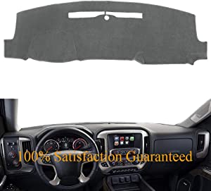 AKMOTOR Dash Cover Dashboard Cover Pad Mat Custom for 2014-2018 Chevy Chevrolet Silverado 1500 / GMC Sierra 1500, 2015-2018 2500HD/3500HD (14-17 Gray) Y32