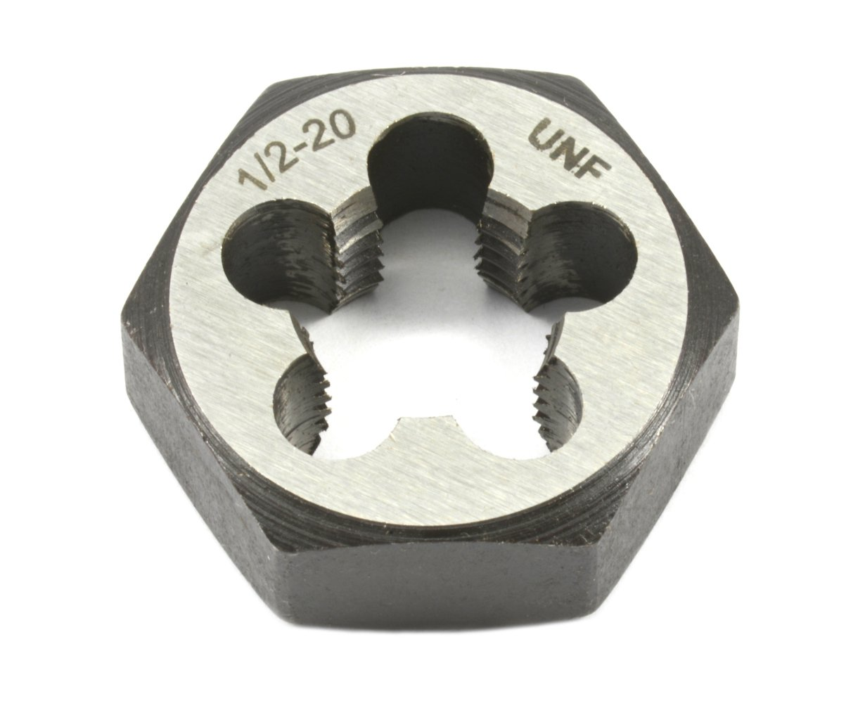 Forney 21182 Pipe Die Industrial Pro UNF Hex Re-Threading Carbon Steel, Right Hand, 1/2-Inch-by-20