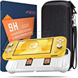 SLEO Case for 2019 Nintendo Switch Lite Case,3 in 1 Switch Lite Accessories Kit with Portable Shell Travel Carrying Case,TPU Protective Cover and Switch Lite Tempered Glass Screen Protector - White
