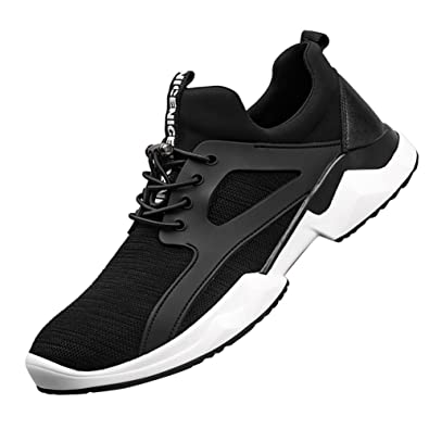 Mens Lightweight Breathable Shock Absorption Slip-On Fitness Sports Casual Running Sneaker Shoes