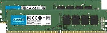Crucial 32GB (2 x 16GB) DDR4 Desktop Memory