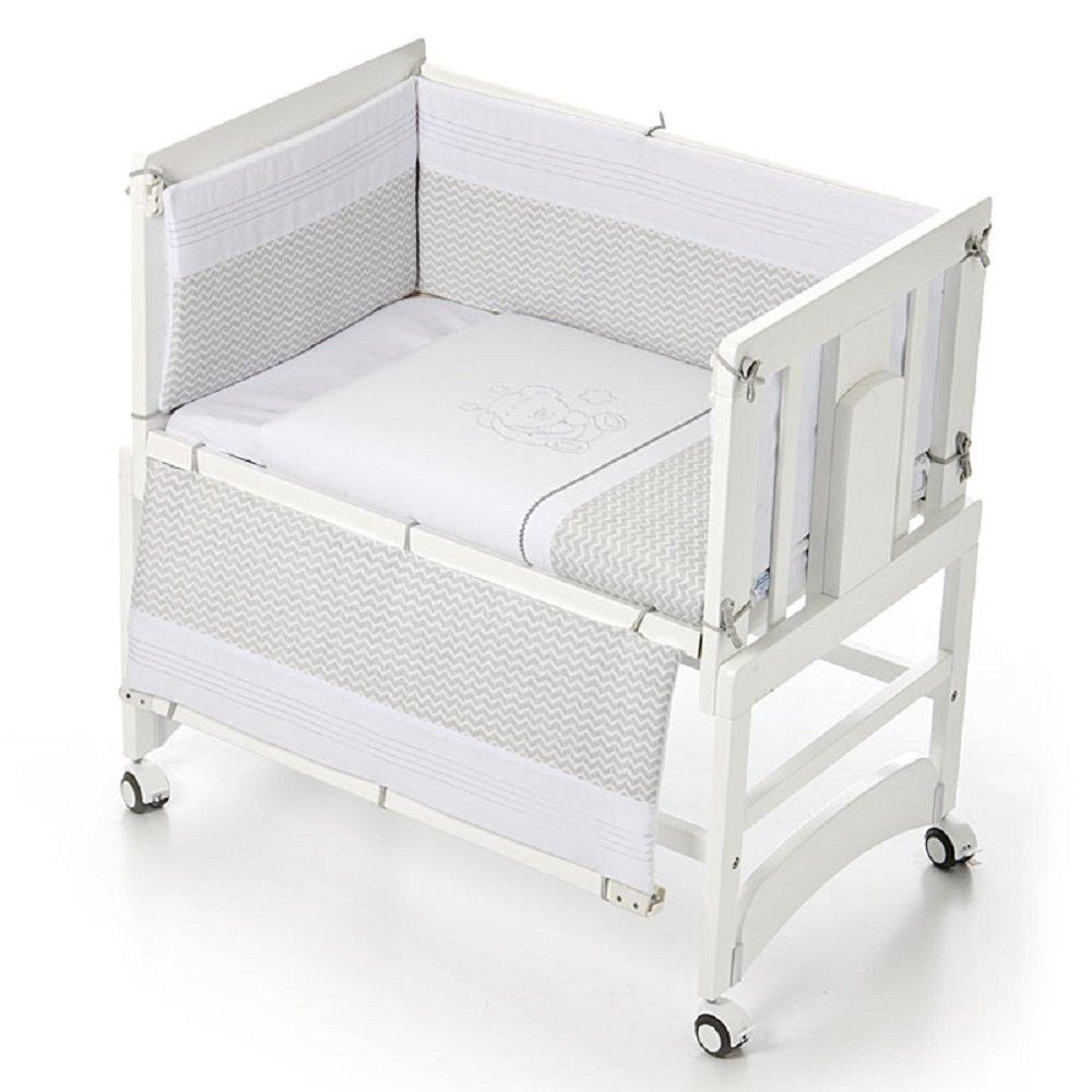 Bolín Bolón 1953242019500 - Textil para minicuna, color gris: Amazon.es: Bebé