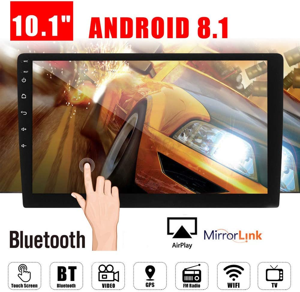 """10.1"""" Android 8.1 Car GPS Double 2Din Quad Core 16GB Touch Screen in Dash Car Stereo Radio Navigation with Bluetooth GPS WiFi DAB OBD SWC Mirror Link Multimedia"""