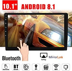 "10.1"" Android 8.1 Car GPS Double 2Din Quad Core 16GB Touch Screen in Dash Car Stereo Radio Navigation with Bluetooth GPS WiFi DAB OBD SWC Mirror Link Multimedia"