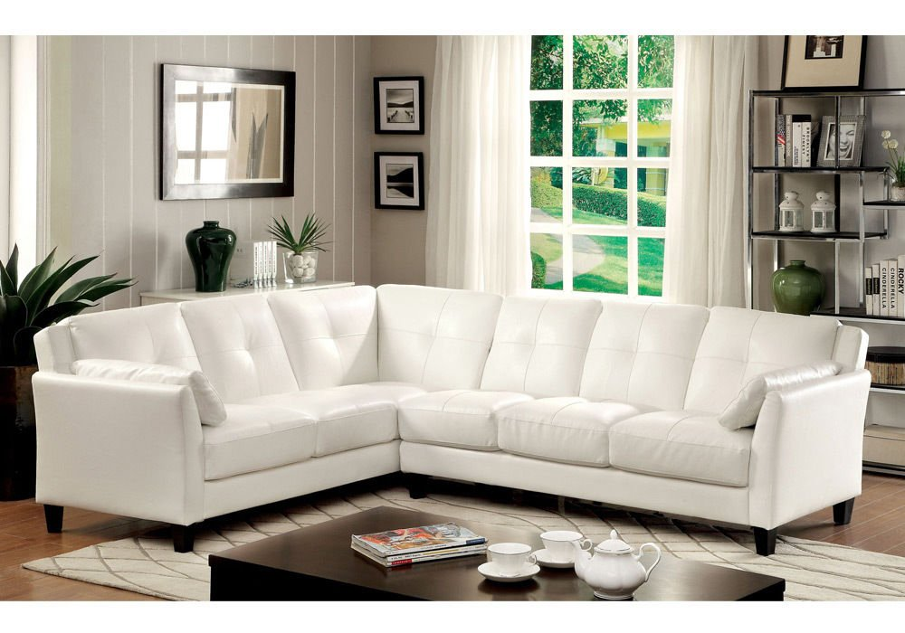 Amazon.com: 1PerfectChoice Peever Living Room Sectional Sofa L Shaped  Tufted Cushion White Leatherette: Kitchen U0026 Dining Part 77