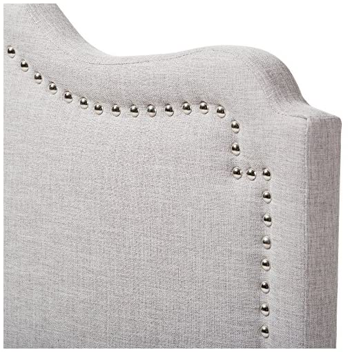 Bedroom Baxton Studio Noelle Modern and Contemporary Greyish Beige Fabric Full Size Headboard, Full, Greyish Beige modern headboards
