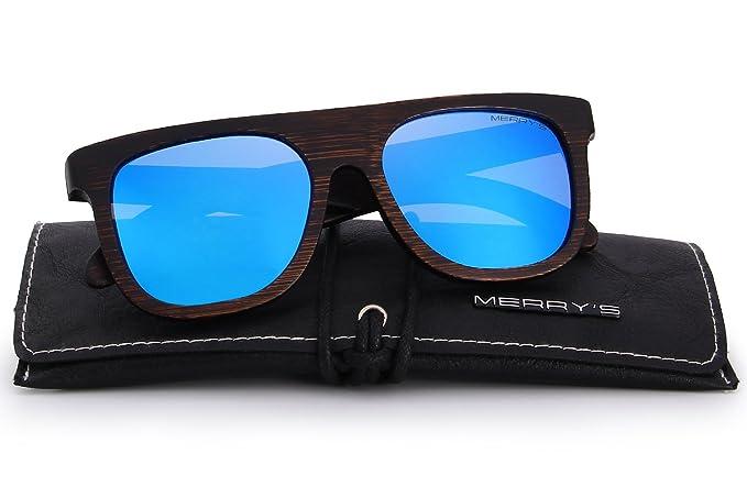 de73aad0705a4 MERRY S - Lunettes de soleil - Homme - Bleu -  Amazon.fr  Vêtements ...