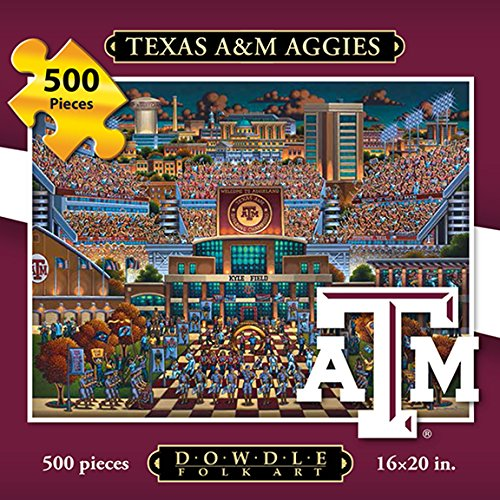 Jigsaw Puzzle - Texas A&M University Aggies-A&M-500 Pc By Dowdle Folk Art