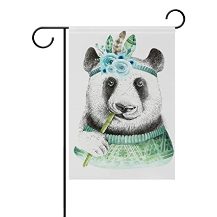 Amazon Com Sdfr4 Cute Animal Indian Panda Garden Yard Flag Banner