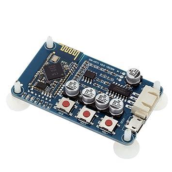 ARCELI Wireless Bluetooth 4.0 Tarjeta Receptora de Audio Módulo Amplificador Digital Estéreo Mini USB 5V
