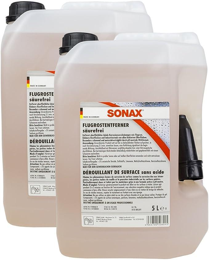 Sonax 2x 05135050 Flugrostentferner Säurefrei 5l Auto