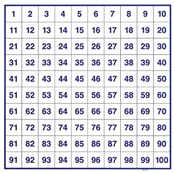 Amazon.com: School Speciality 1-100 Number Board Set, 10-3/4