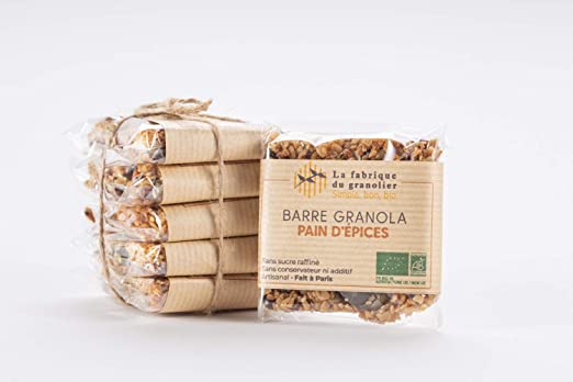 Barras de granola Pan de jengibre - orgánico - Paquete de 10 ...