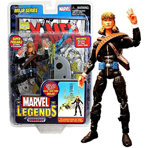 Marvel ToyBiz Year 2006 Legends Mojo Series 6 Inch Tall Figure - LONGSHOT with 35 Points of Articulation Plus Lower Right Mechanical Legs of Mojo, Diorama & Comic