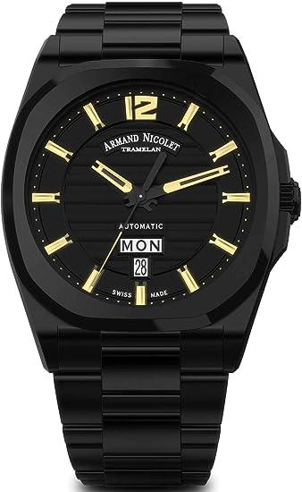Armand Nicolet J09 Day&Date A650AQN-NC-MA4650NA - Reloj de Pulsera analógico automático para