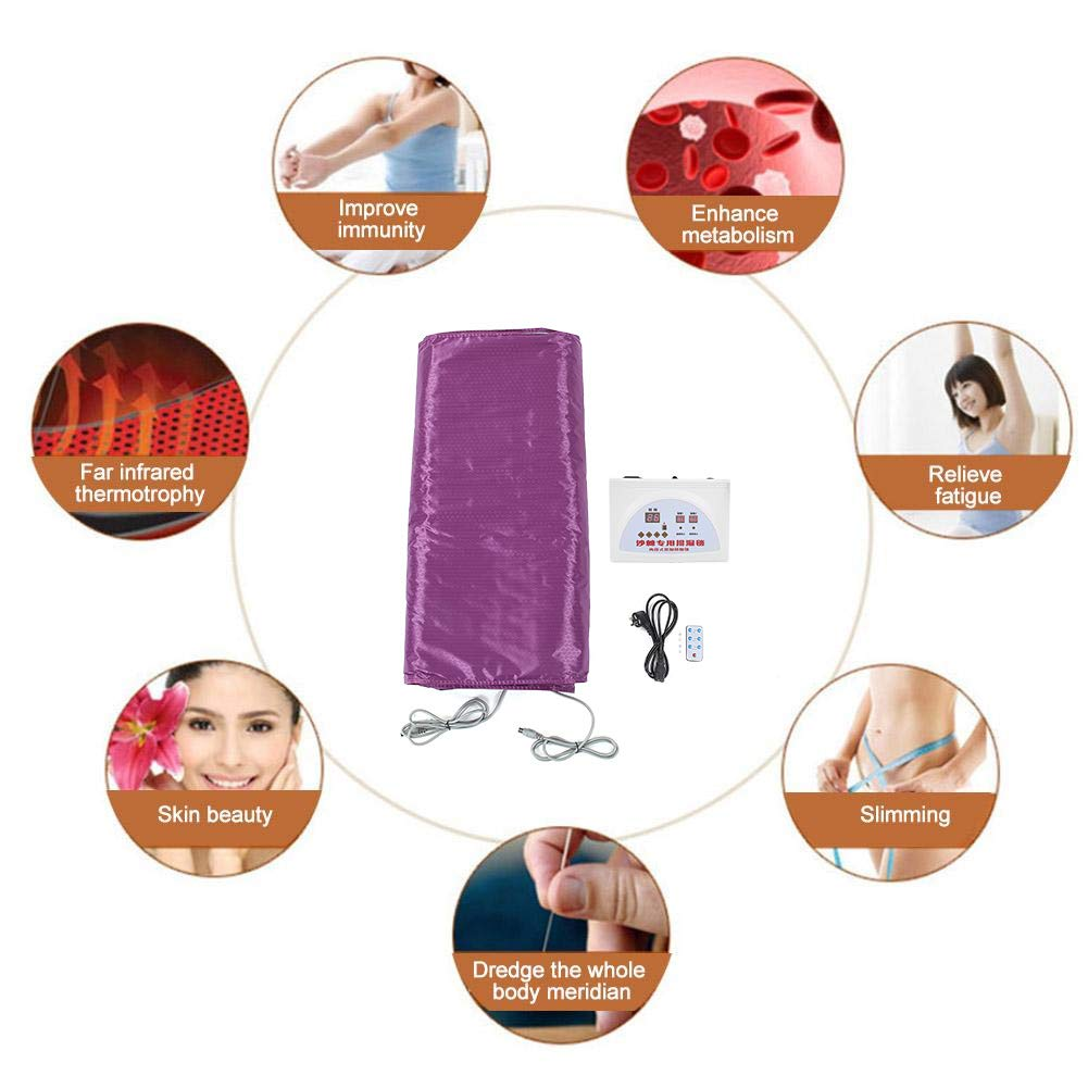 Purple Far Infrared Heat Sauna Slimming Blanket Detox Therapy Machine for Weight Loss Body Shaper Slimming in Home Professional Salon Beauty Use Ejoyous Digital Sauna Blanket