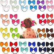 "CELLOT 40pcs 2.75"" Boutique Hair Bows Tie Baby Girls Kids Children Rubber Band Ribbon Hair"