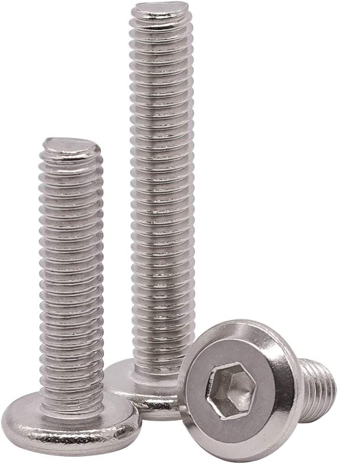M3-0.5 x 20mm (Pack of 100) Flat Head Hex Socket Cap Screws Bolts, 304 Stainless Steel 18-8, Countersunk Connector Screws for Furniture Baby Bed Chairs, Bright Finish, Full Thread
