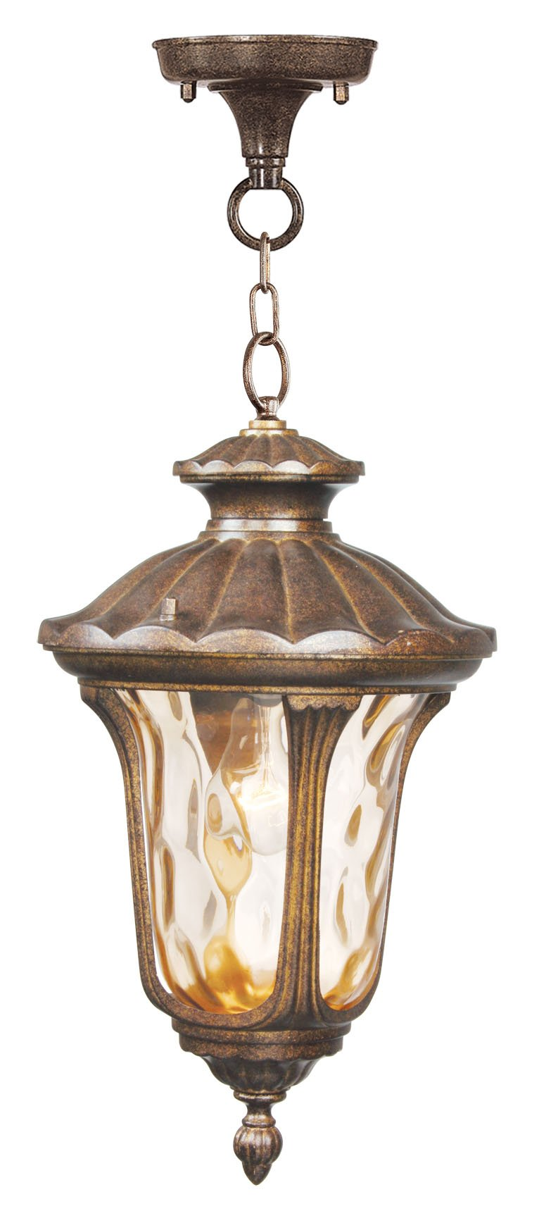 Livex Lighting 7654-50 Oxford 1 Light Outdoor Hanging Lantern, Moroccan Gold by Livex Lighting