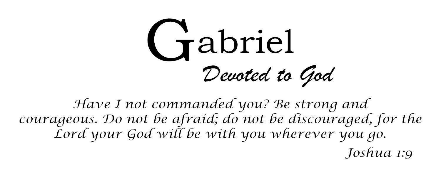 Amazon com: Baby Names Wall Decals for Gabriel  Displays The Meaning