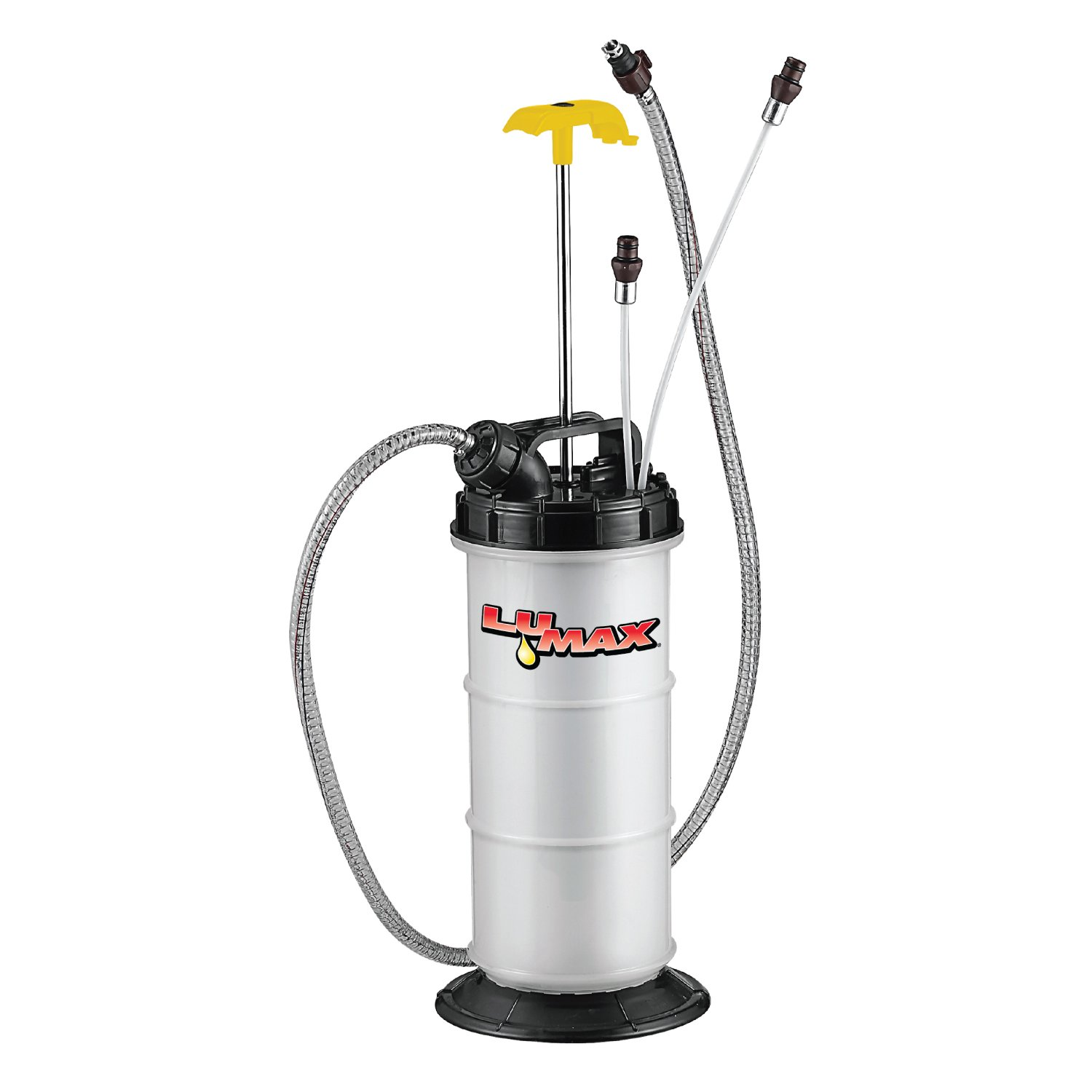 Lumax LX-1311 Extractor, 1.6G (6L) Capacity. Ideal Suitable for Brake, Engine, Gear Oil, Transmission Fluid, Water, etc. Easy Manual Pump Operation by Lumax