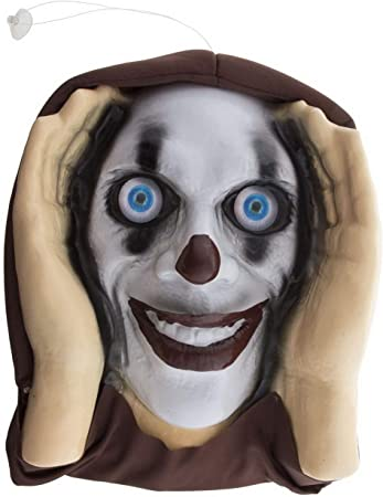 Toybakery Halloween Dekoration Fenster Deko Horror Clown Window Decoration Creepy Clown Ideal Fur Jede Halloween Party Feier Weiss Amazon De Spielzeug