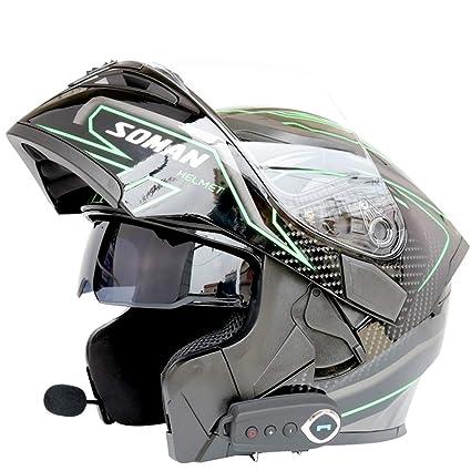Cascos de Motocicleta modulares Bluetooth + FM Dot ...