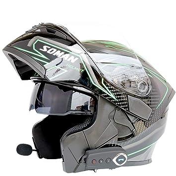 Casco de choque modular abatible para motocicleta NENKI NK-860