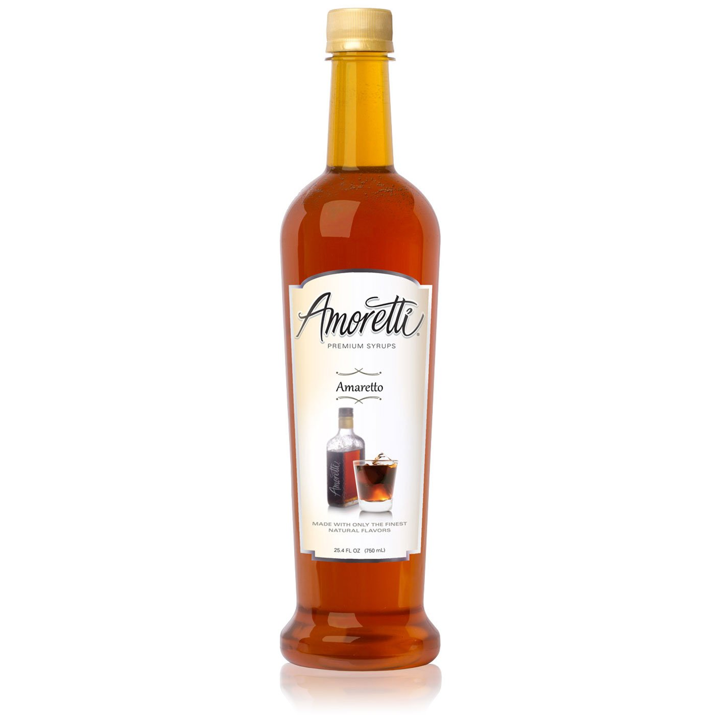 Amoretti Premium Syrup, Amaretto, 25.4 Ounce