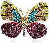 Napier Multi-Tone Butterfly Brooch Pin