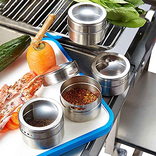 Xeminor 1PCS Stainless Steel Spice Jar Multi-function Spice Tin Seasoning Tank Kitchen Supplies for Salt Pepper Herbs Storage Silver by Xeminor (Image #2)