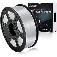 SUNLU Transparent PLA 3D Printer Filament, PLA Filament 1.75 mm, 3D Printing Filament Low Odor Dimensional Accuracy +/- 0.02 mm, 2.2 LBS (1KG)