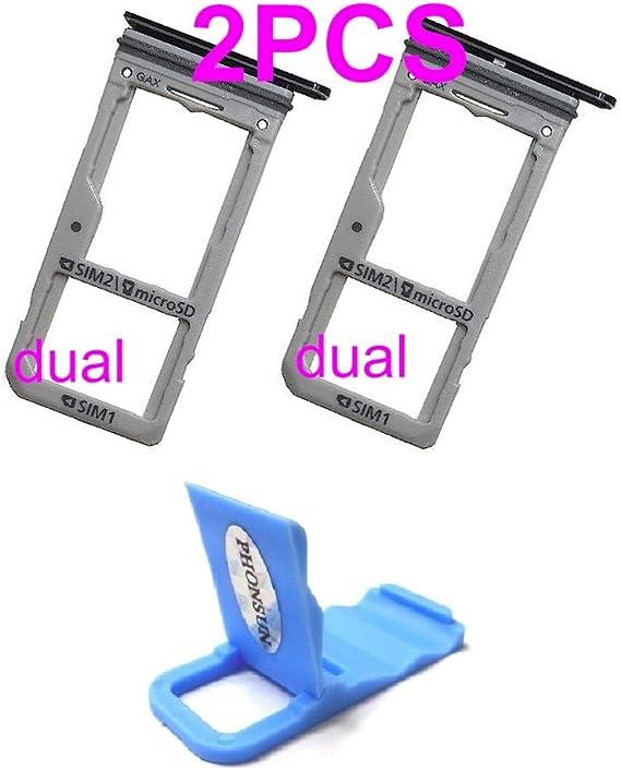 Dual Sim Card & Micro SD Holder Slot Tray Replacement for Samsung Galaxy S8 G950A G950V G950T G950P G950 / S8 Plus S8+ G955A G955V G955T G955P G955 + ...