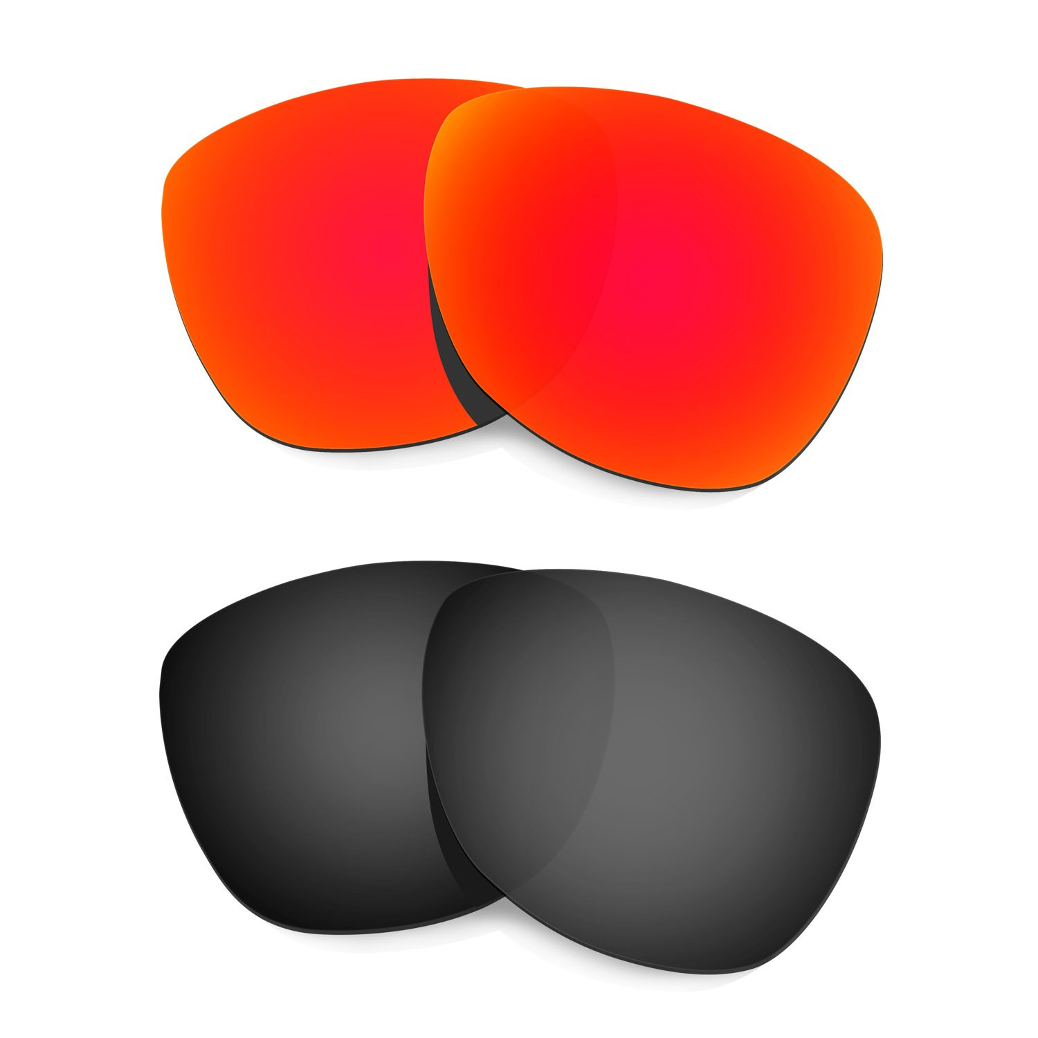 Hkuco Mens Replacement Lenses For Oakley Frogskins (Asia Fit) - 2 pair