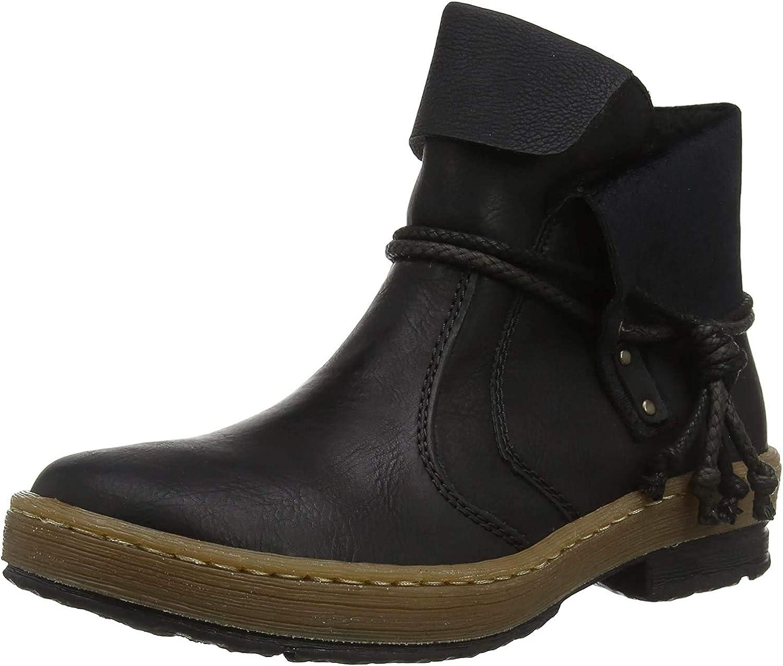 Rieker Damen Z6771 Kurzschaft Stiefel Schwarz Black 00