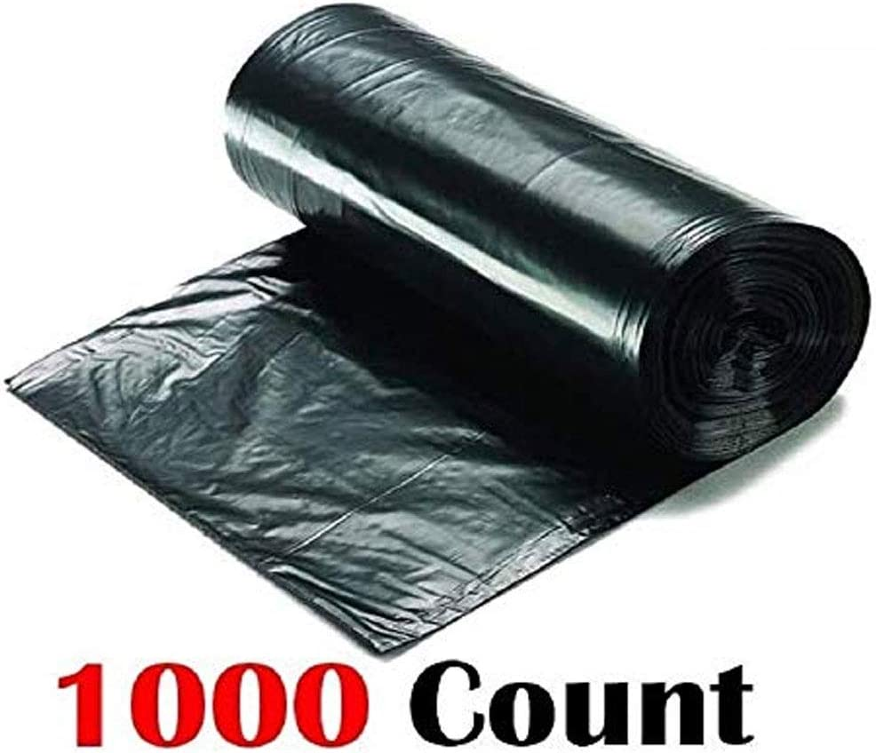 Ox Plastics 7-10 Gallon Trash Can Liner High Density 24x33 1000 Roll Bag 8 Micro