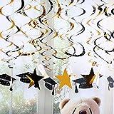 30 Pieces Graduation Hanging Decorations Swirls, Graduation Party Supplies 2018 Graduation Wishes,Mortarboards,Diplomas Hanging Ceiling Graduation Accessories (Graduation Haning Swirl)