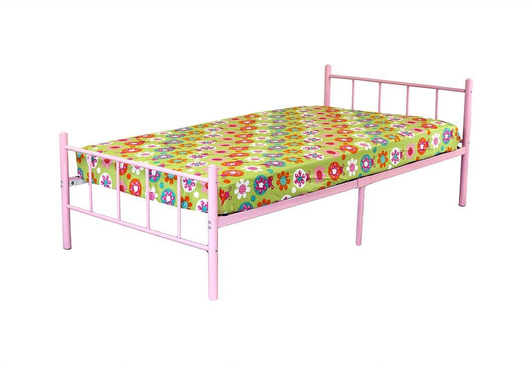 Rack Furniture Portland Metal Twin Bed (Pink)