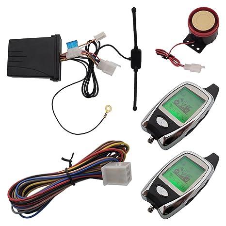 Universal 2 way alarma moto motocicleta 2 way alarma con LCD ...