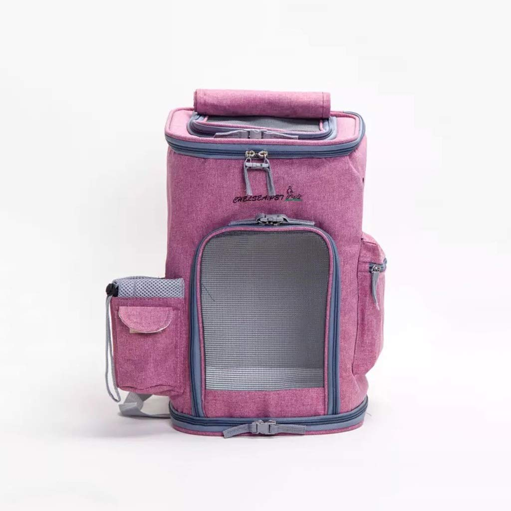 1  43x26cm 1  43x26cm MIAOLIDP Cat out of the backpack breathable runaway carrying case Pet cat carrier (color   1 , Size   43x26cm)
