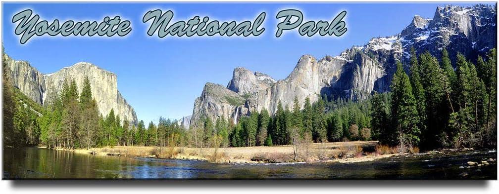 Yosemite National Park panoramic fridge magnet California travel souvenir