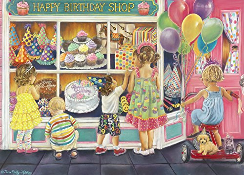 The Jigsaw Puzzle Factory Window Shopping – Happy Birthday (1000 Piece) Toy, Multicolor