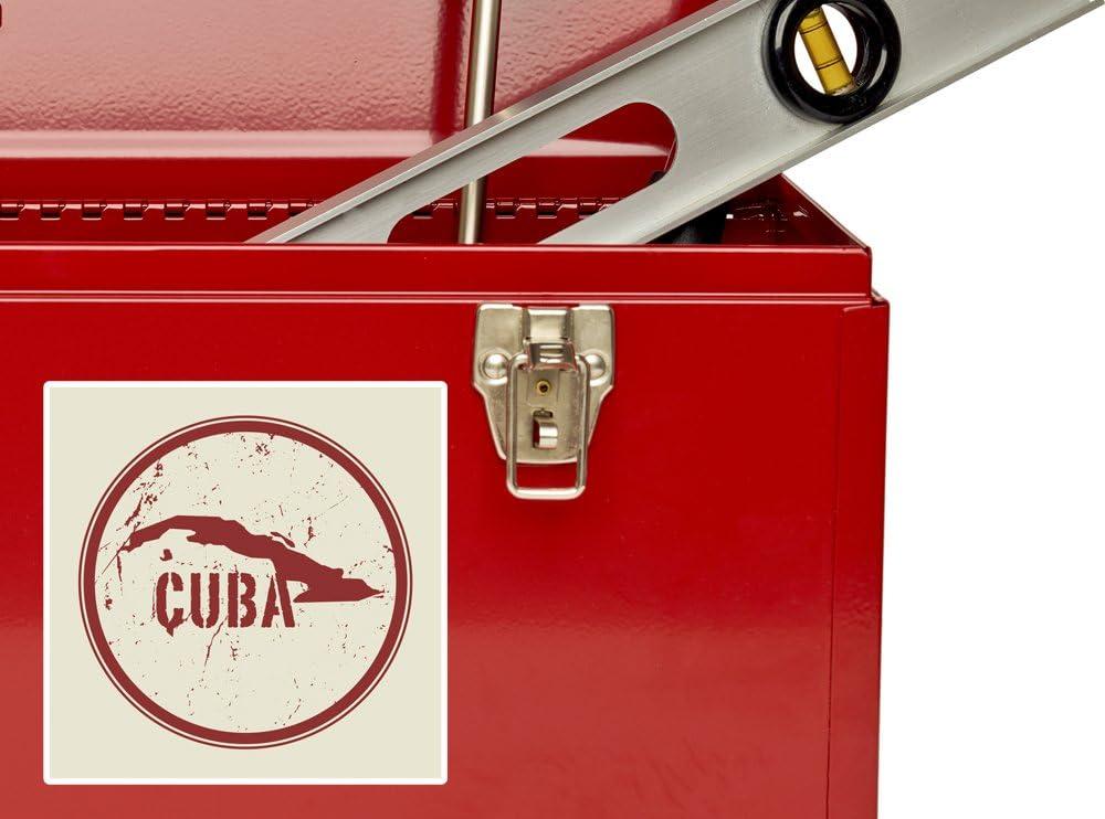 2 x 10cm//100mm Cuba Vinyl Stickers Travel Luggage #7469
