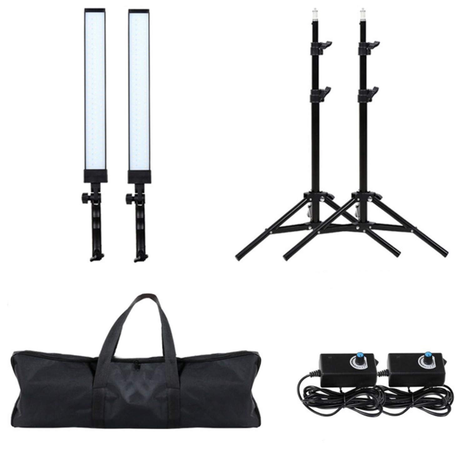 GIJUANRING LED Photography Dimmable Lighting Kit, 5600K Photo Studio Led Light Kit with Tripod Stand for Portrait Video and Shooting by GIJUANRING