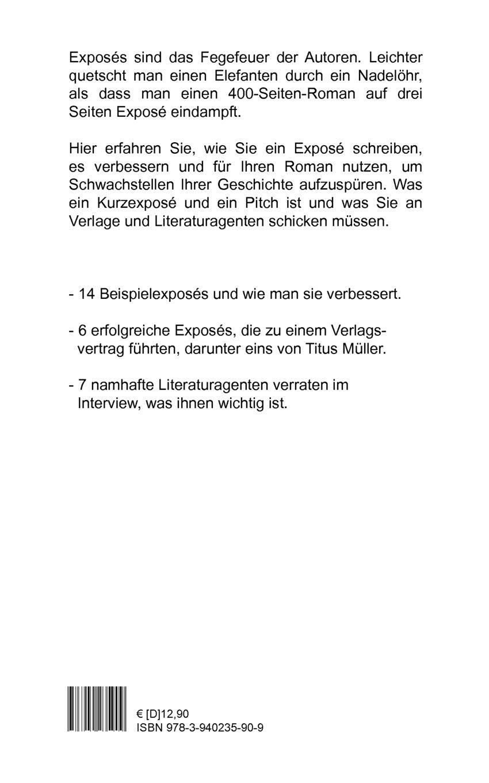 Drei Seiten Für Ein Exposé Schreibratgeber Amazonde Hans Peter