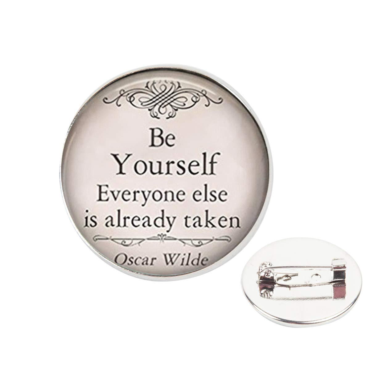 Pinback Buttons Badges Pins Be Yourself Quote Lapel Pin Brooch Clip Trendy Accessory Jacket T-Shirt Bag Hat Shoe