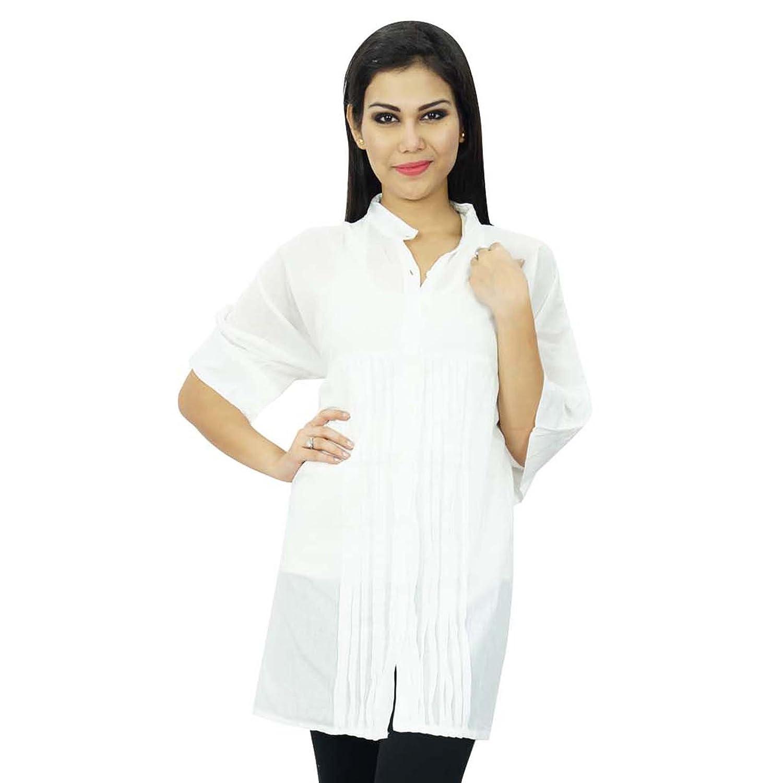 Indische Baumwolle Frauen Sommer-Kleid Boho Top Lässige Tunika Sommerkleid